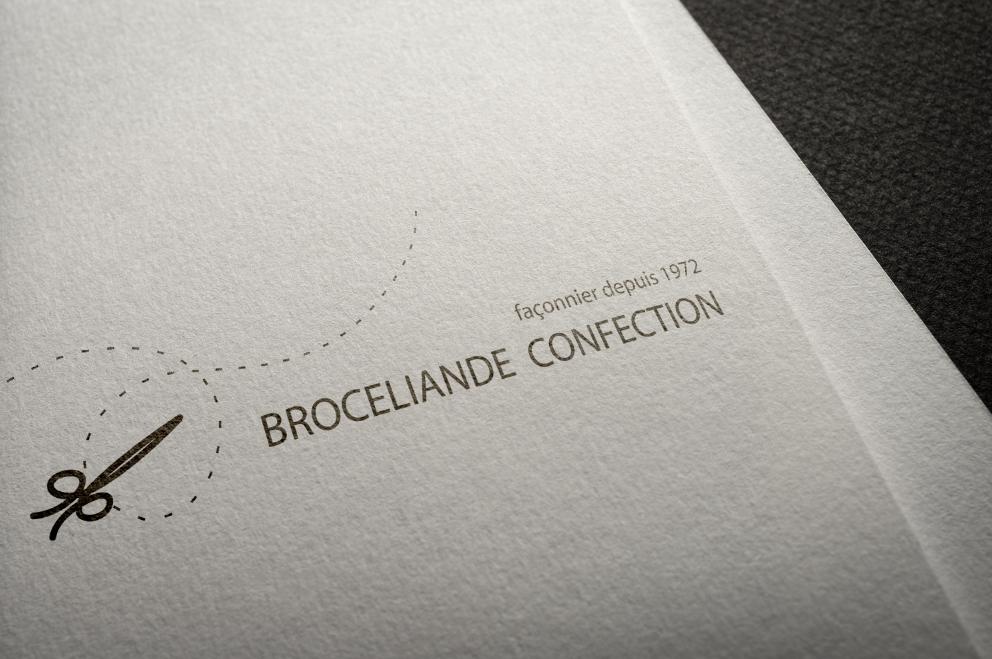 identité visuelle Broceliande Confection