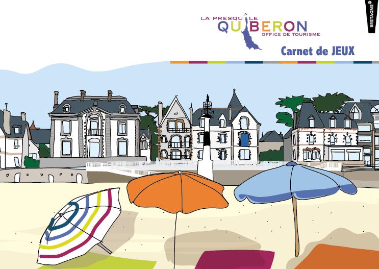 Couverture du livret de jeux - Office de tourisme de Quiberon